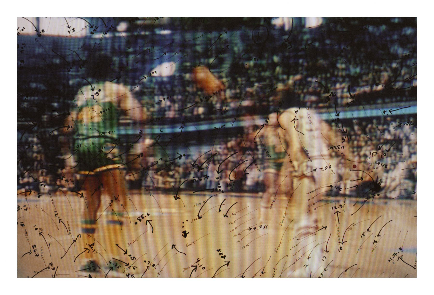 Video Drawings: Basketball, 1975, Chromogenic print