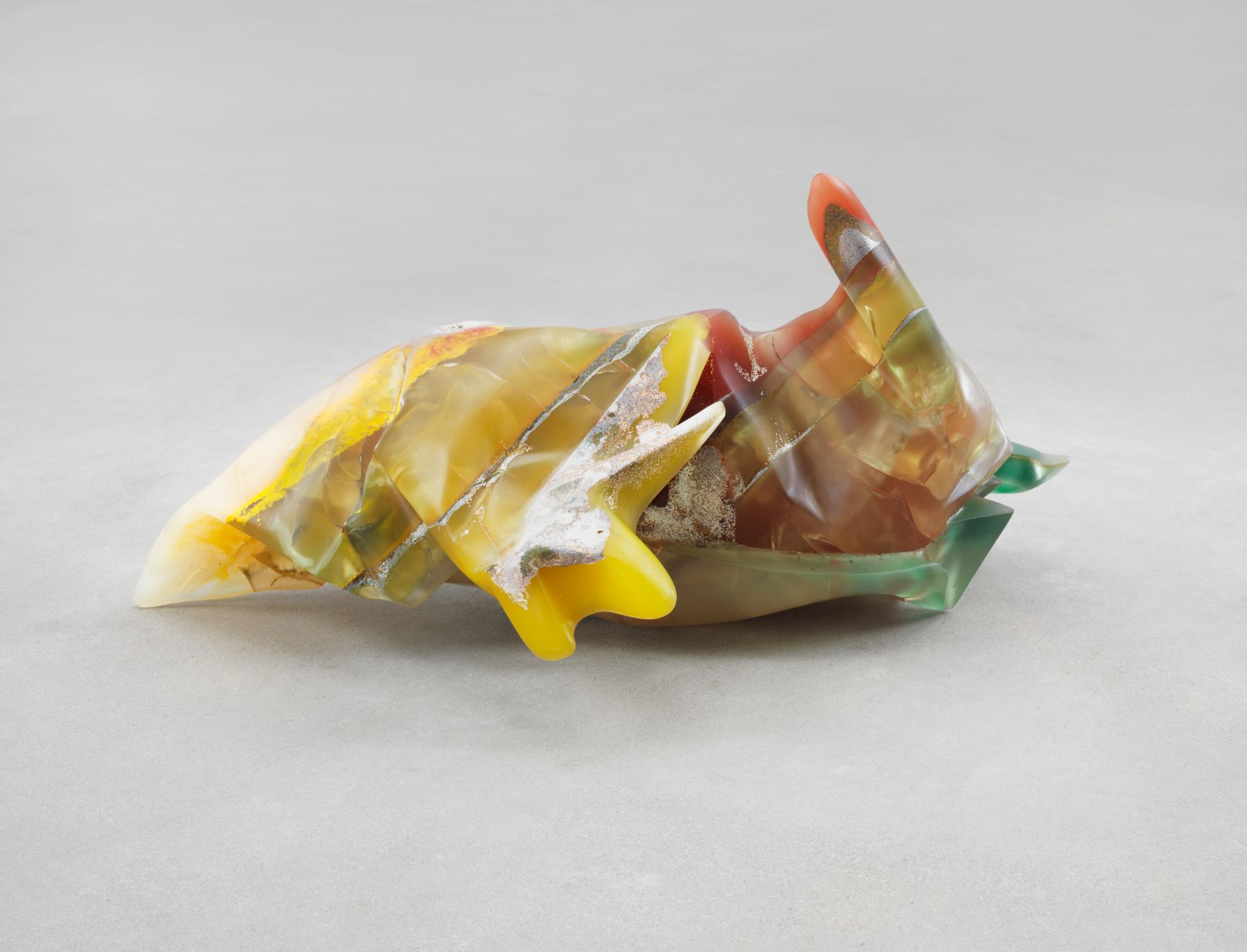 Bennington VIII, 1970, Polyester resin, milled glass, plaster, glitter, and dry pigment