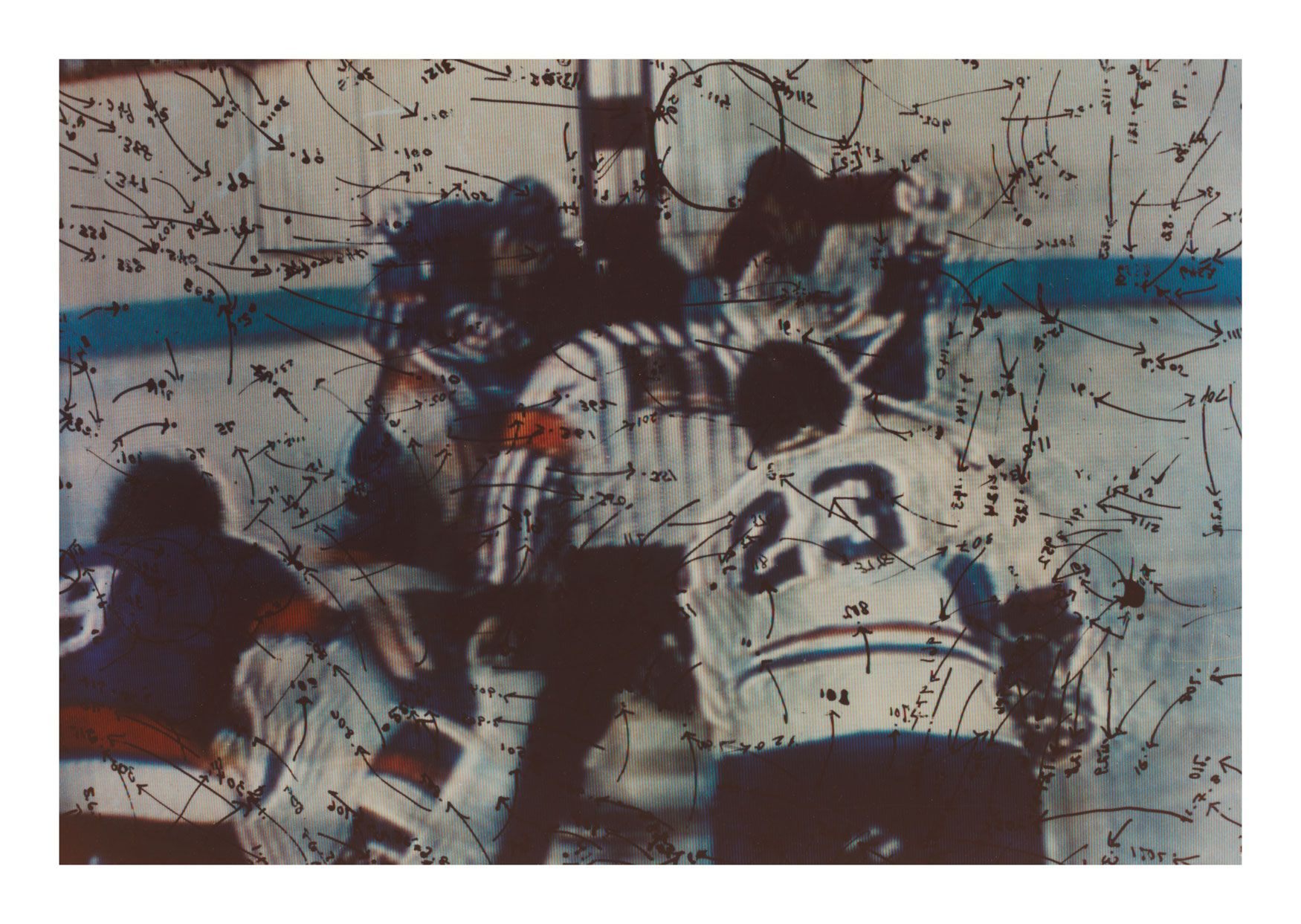 Video Drawings: Hockey, 1975, Chromogenic print