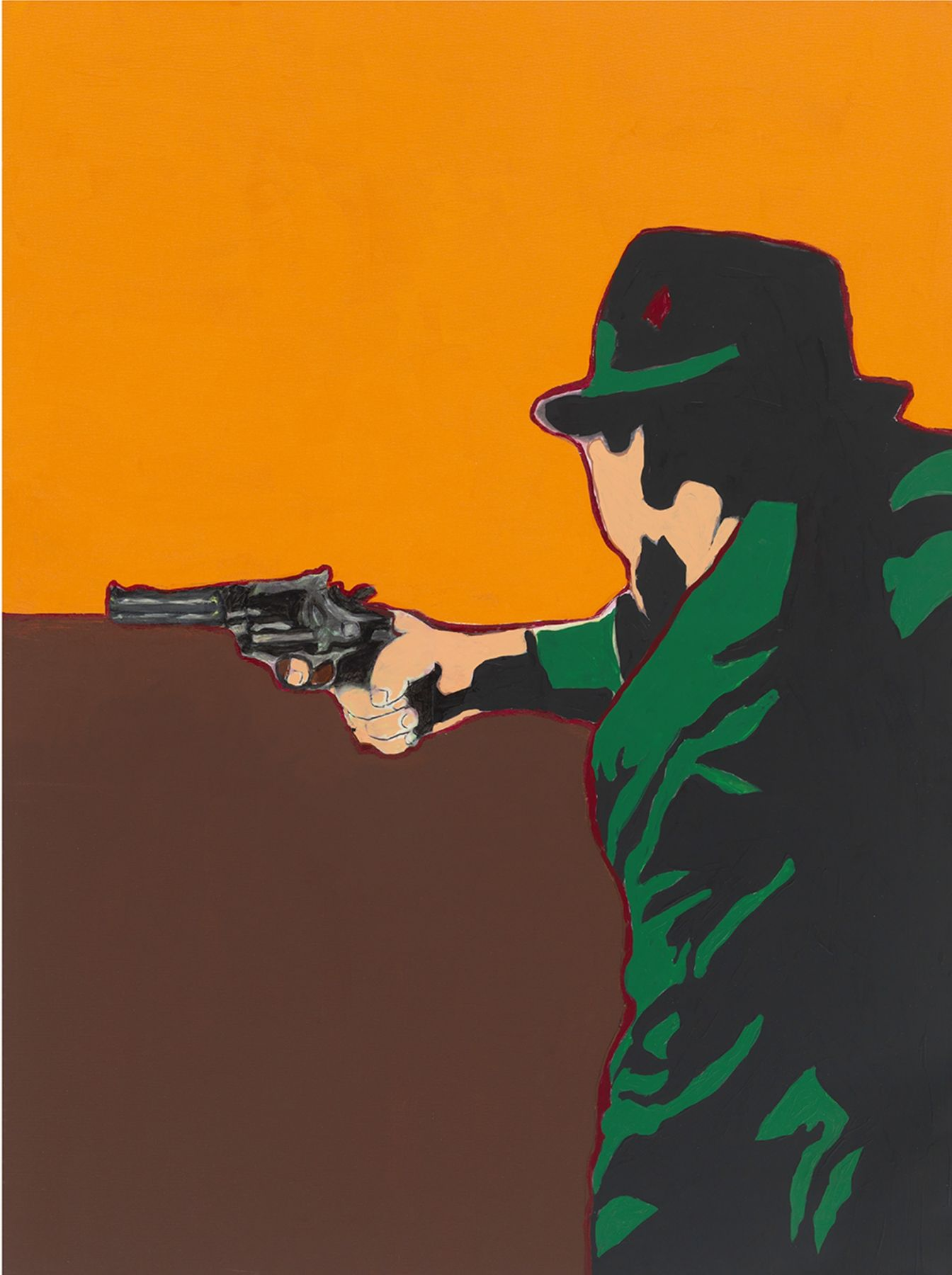 Shoot to Kill (Breaking News), 2014, Acrylic and paper collage on canvas