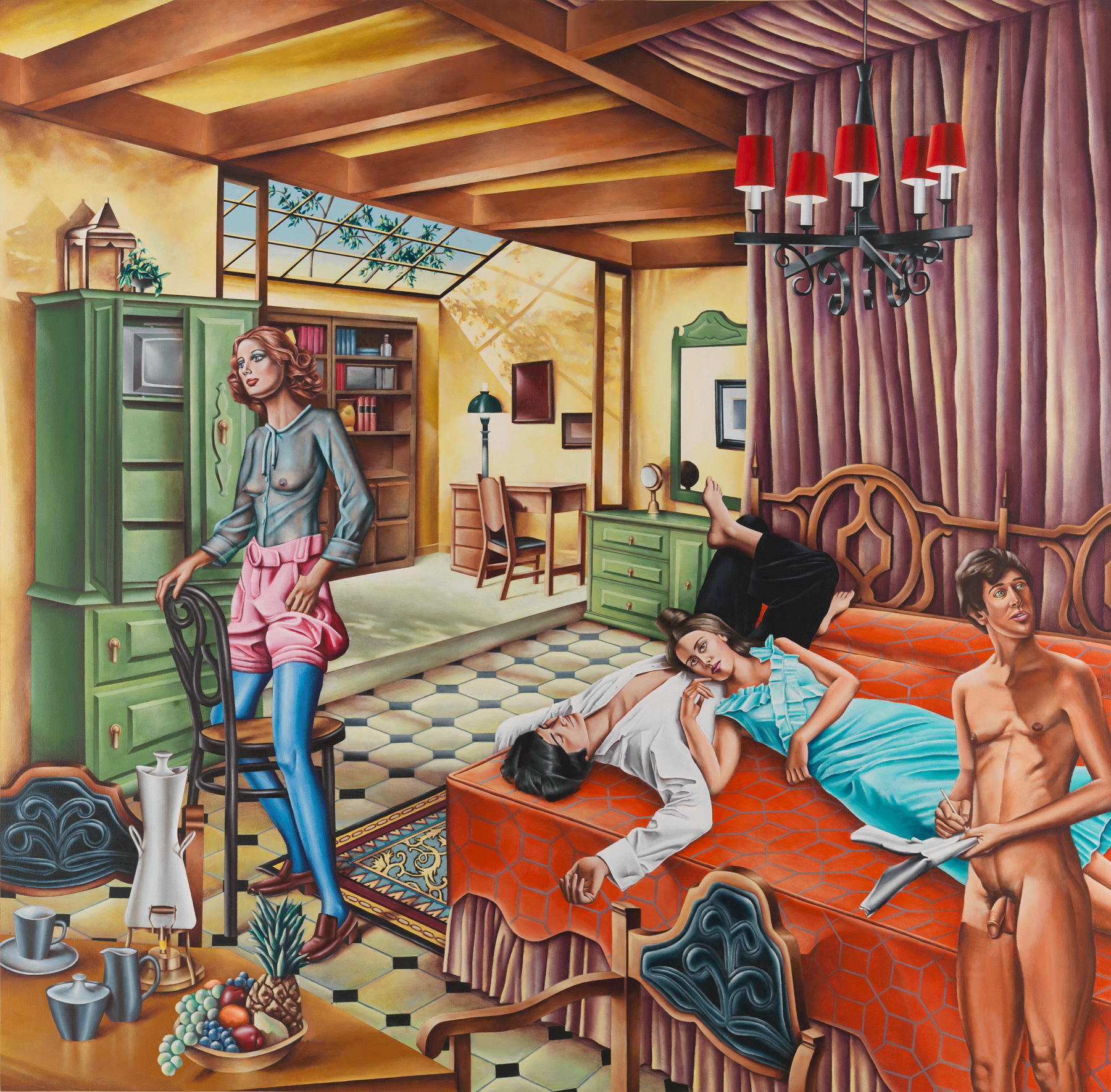 Spanish Mediterranean Bedroom, 1971, Acrylic on canvas