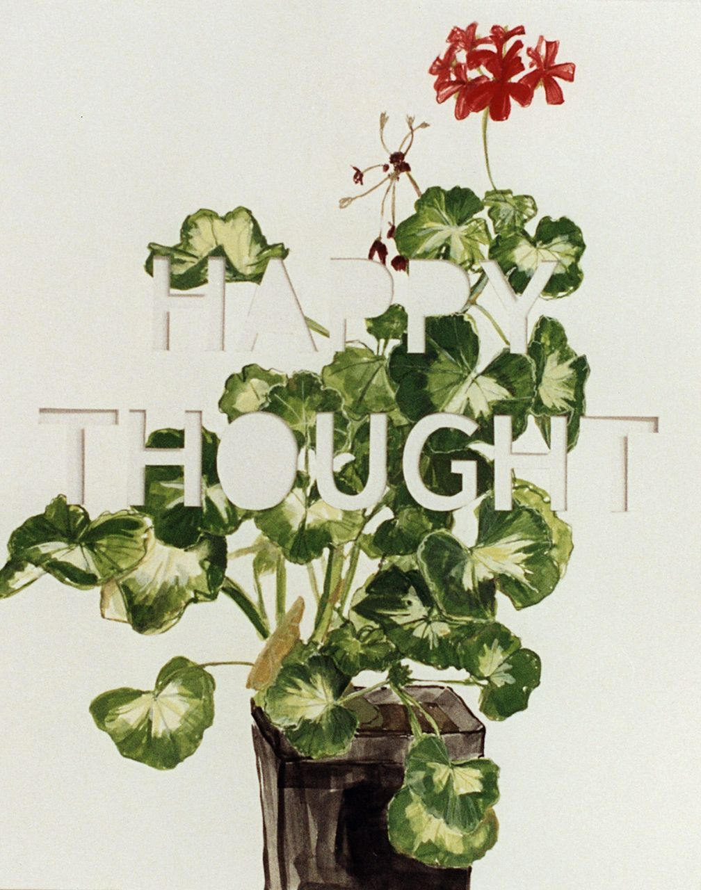 Happy Thought, 2000, Gouache on paper