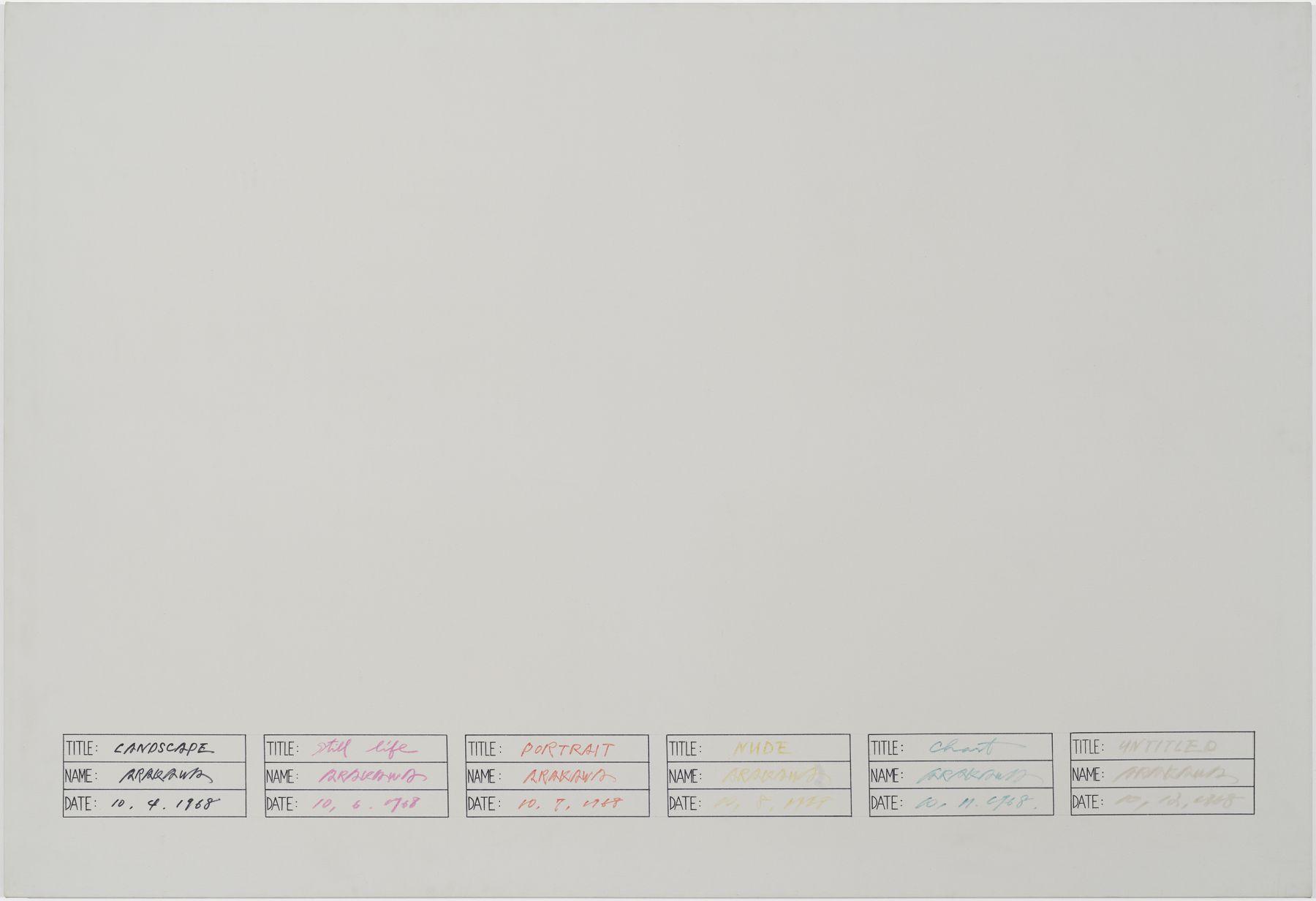 Arakawa, Untitled, 1968