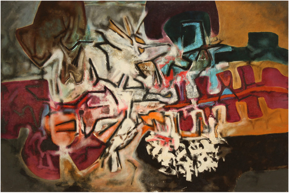 Aubrey Williams Shostakovich Symphony no. 12, Opus 112, 1981 oil on canvas 64 x 96 inches, © Estate of Aubrey Williams