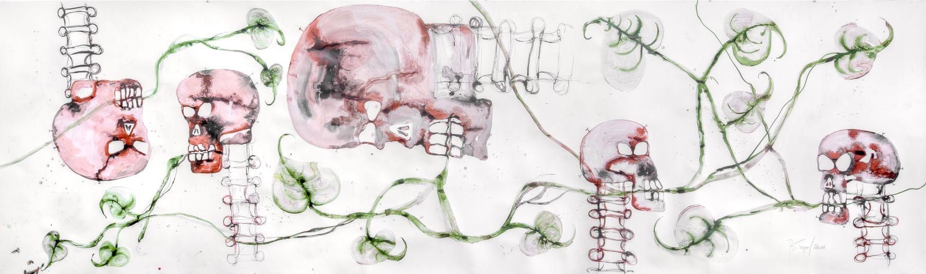 Barthélémy Toguo, Le chant des amoureux, 2011