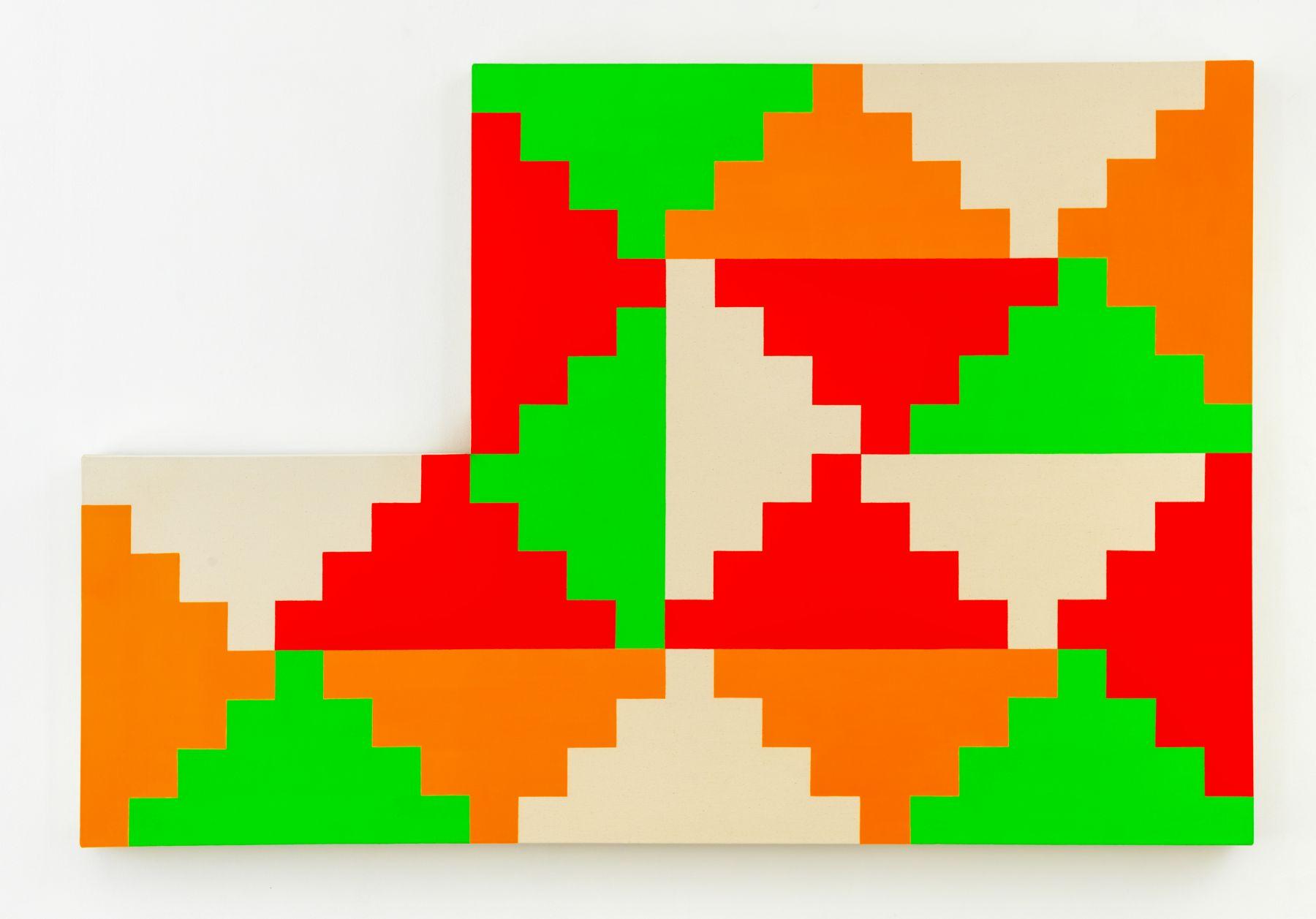 GENERAL IDEA 1968 General Idea Shaped Ziggurat Painting #1