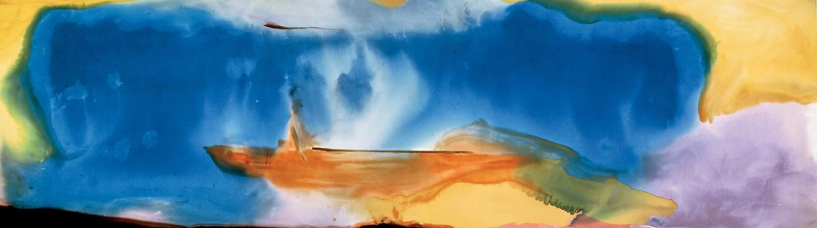 HELEN FRANKENTHALER Moveable Blue