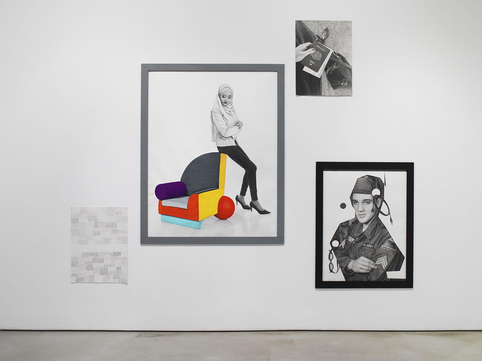 KARL HAENDEL Installation view of Masses & Mainstream at Mitchell-Innes & Nash, New York, 2019