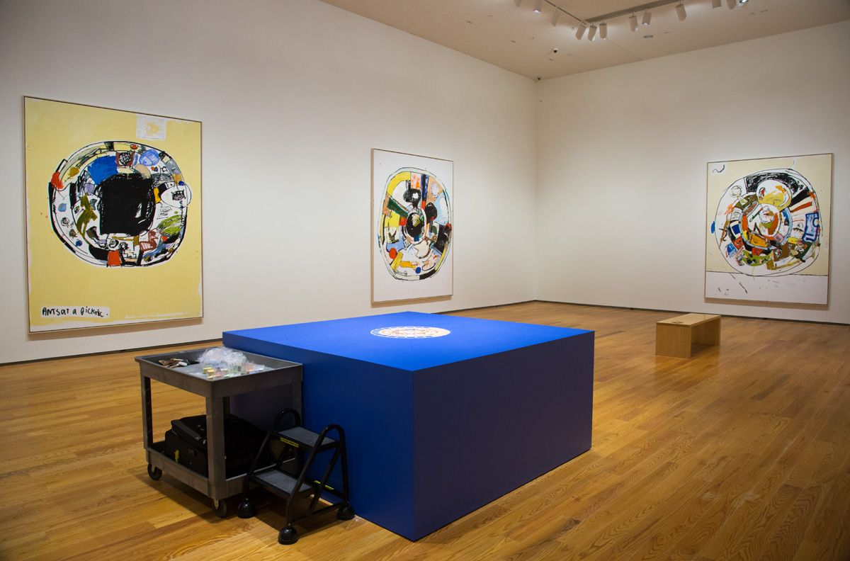 EDDIE MARTINEZInstallation view of Ants at a Picknic at the Davis Museum at Wellesley College, MA, 2017