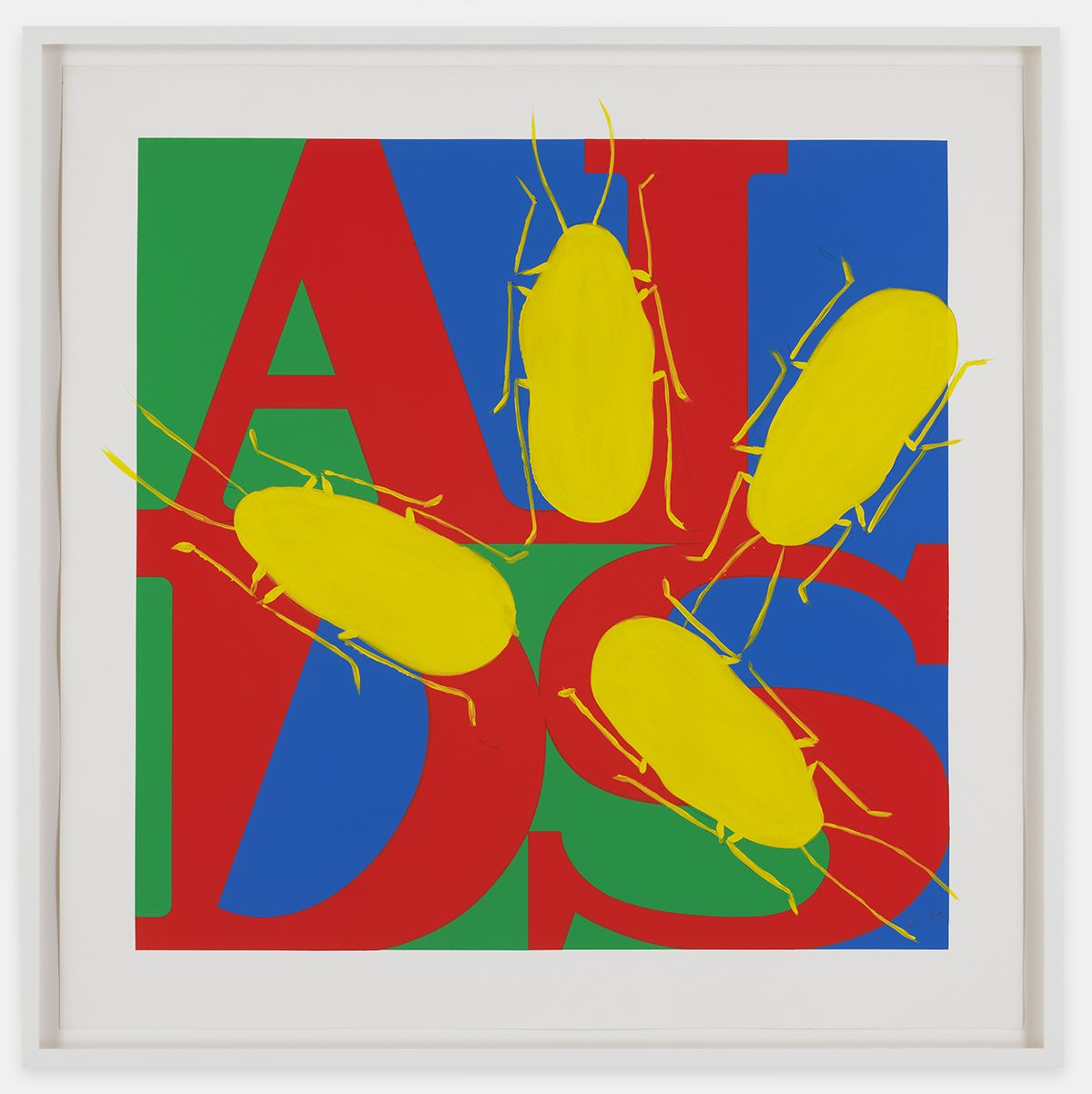 GENERAL IDEA Untitled (AIDS with Yellow Cockroaches) 1993