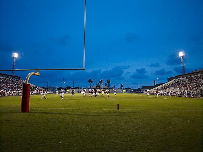 CATHERINE OPIE Football Landscape #12 (Alice vs. W.B. Ray, Corpus Christi, TX)