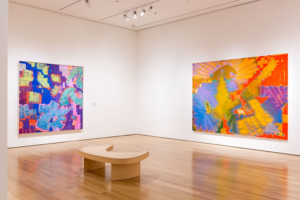 KELTIE FERRIS Installation view of *O*P*E*N* at The Speed Art Museum, Louisville, KY, 2018