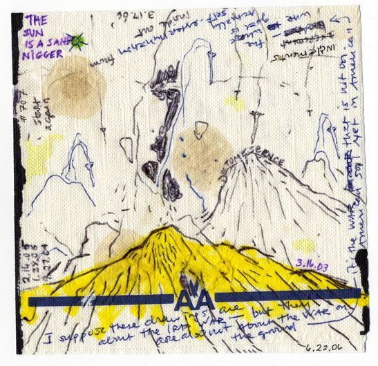POPE.L Failure Drawing #707 And Long Before, White Mountain