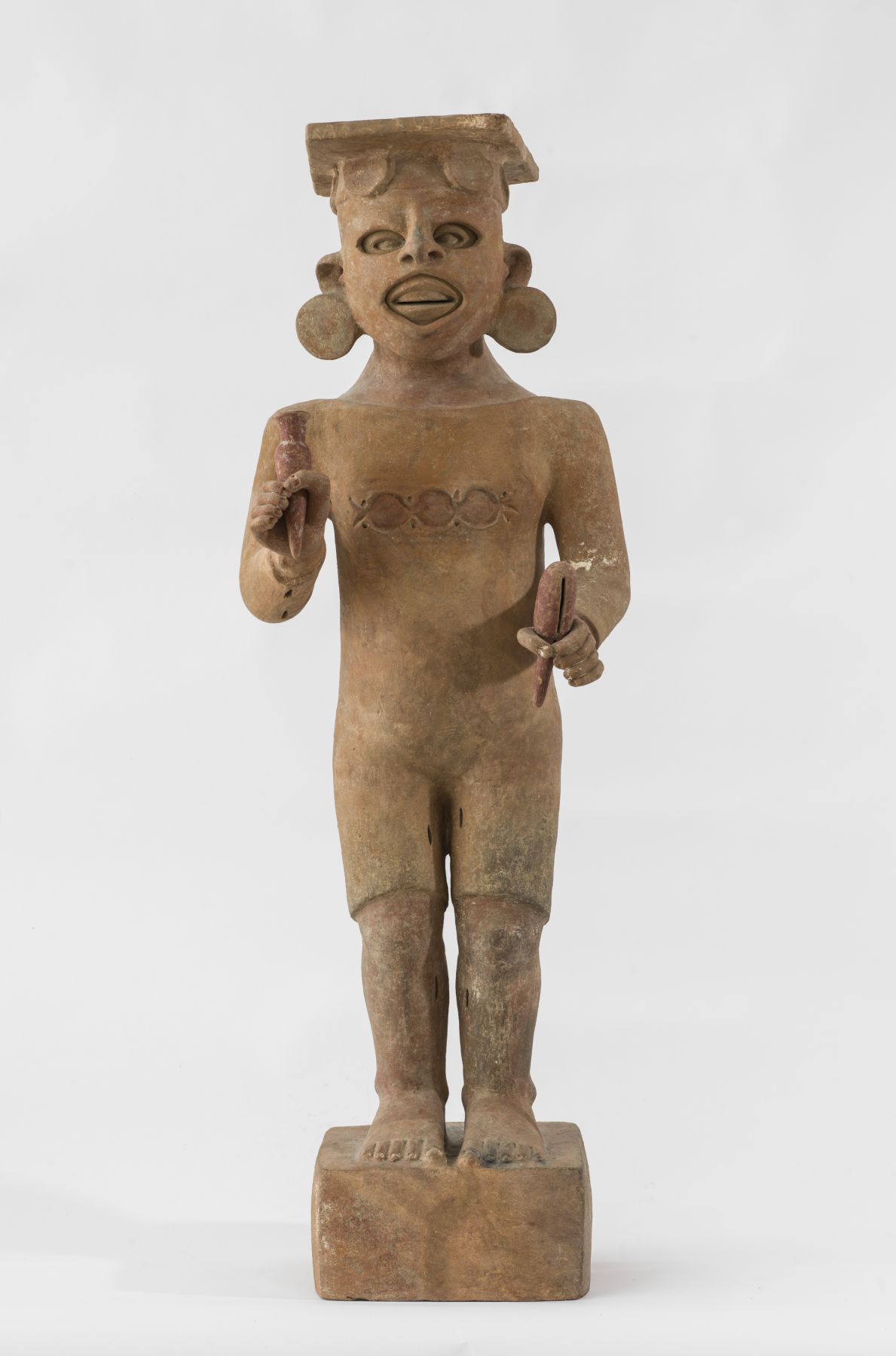 """MEXICAN Xipe-Totec, """"Our Lord, the flayed one"""" (Standing Figure wearing human skin)"""