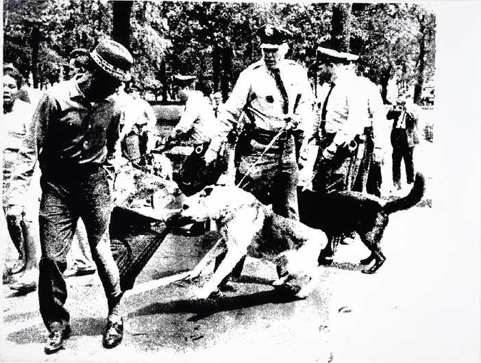 ANDY WARHOL Race Riot