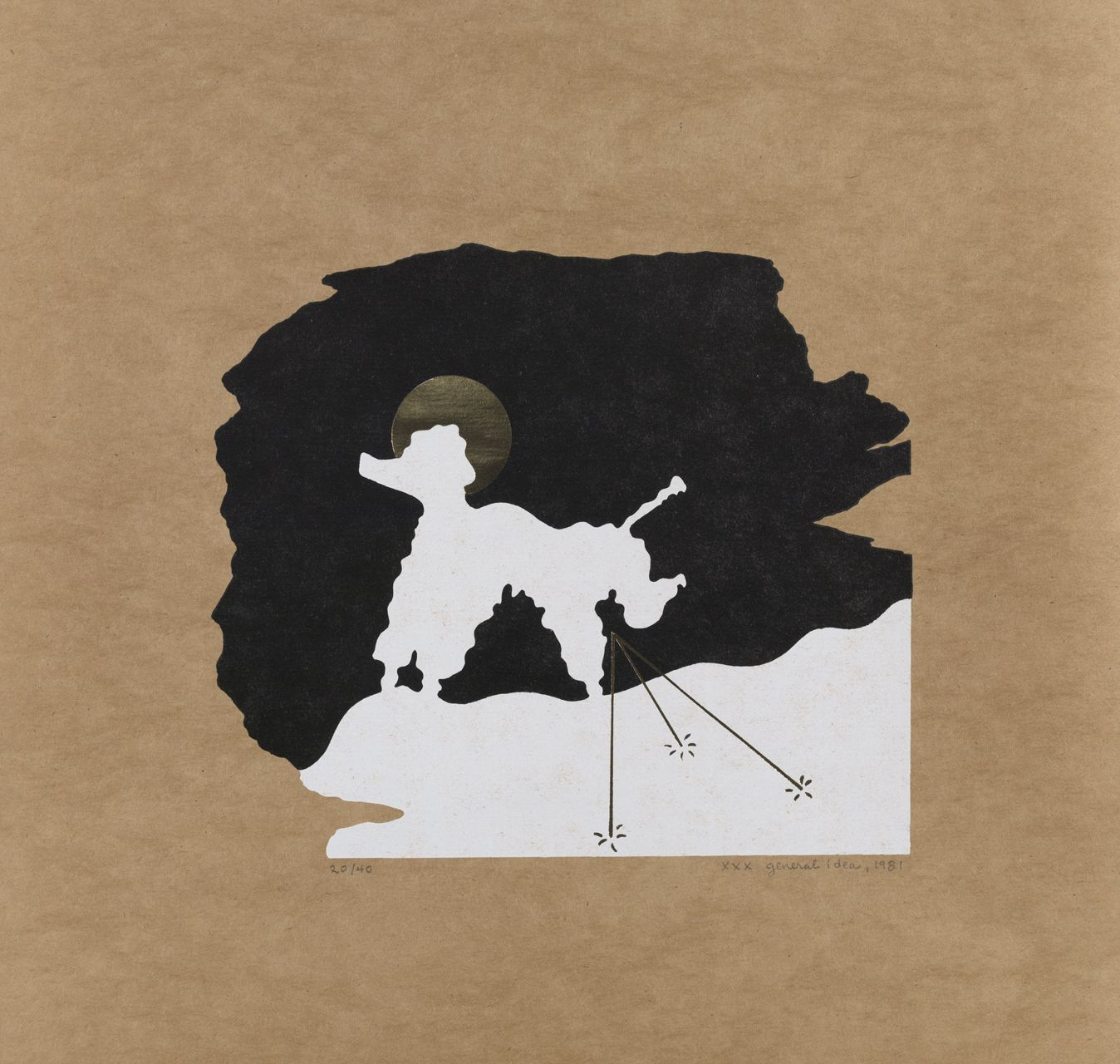 GENERAL IDEA A Poodle Creates a Portrait of General Idea as Three Pee-Holes in the Snow 1981