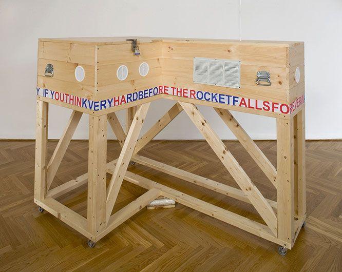 POPE.L Coffin (Flag Box)