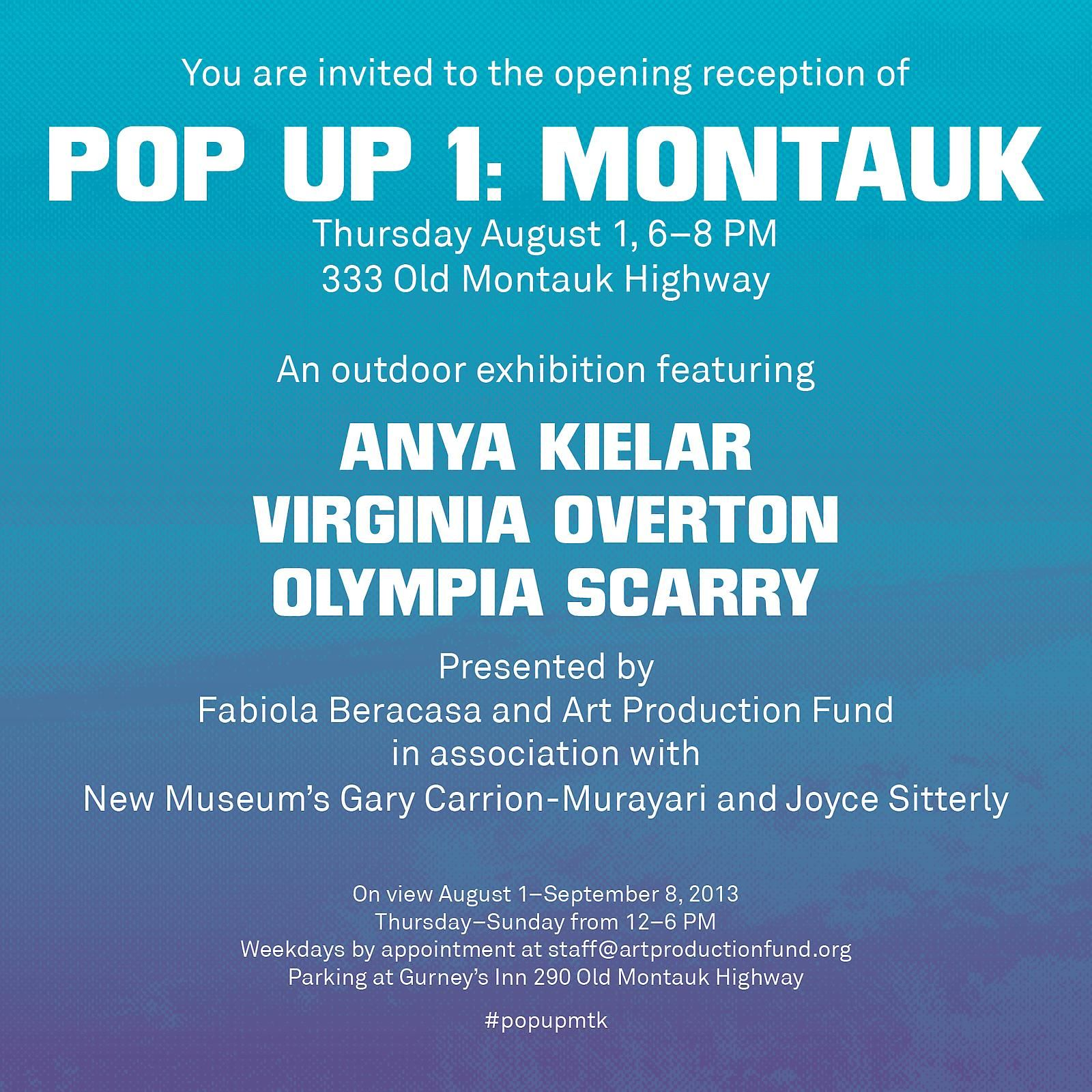 Virginia Overton at Pop Up 1: Montauk