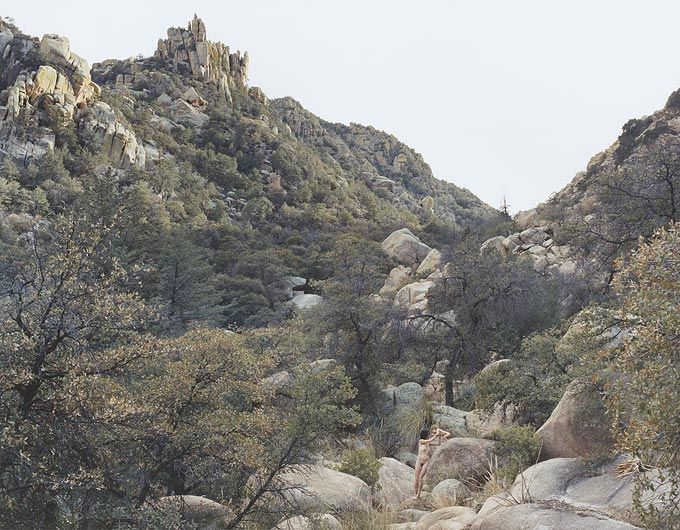 JUSTINE KURLAND Self Portrait with Casper, Texas Canyon