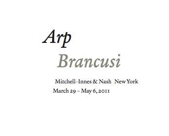 Arp Brancusi