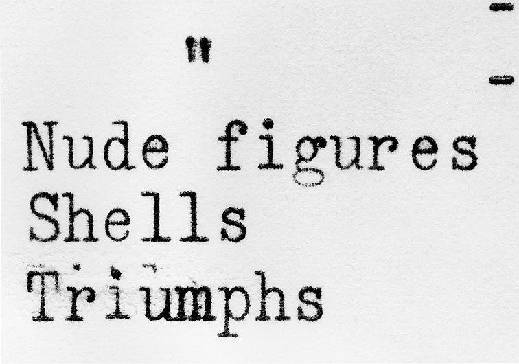 ERICA BAUM Untitled (Nude Figures, Shells, Triumphs)
