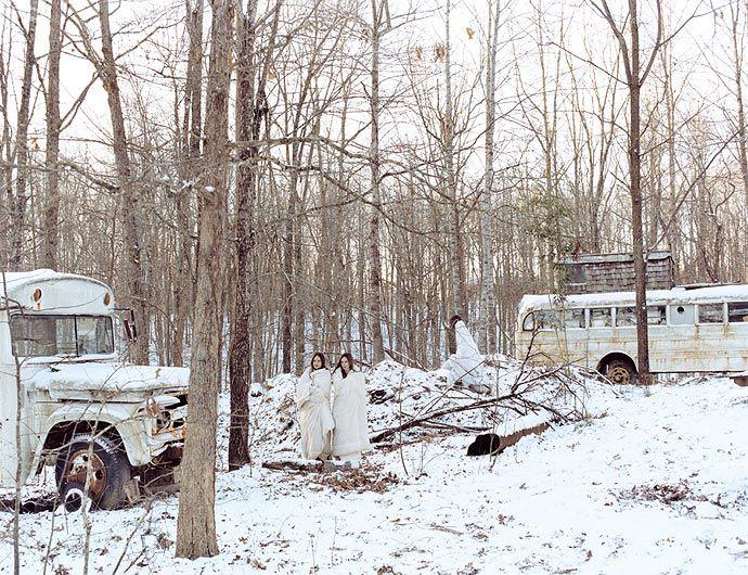 JUSTINE KURLAND Buses on the Farm, 2003
