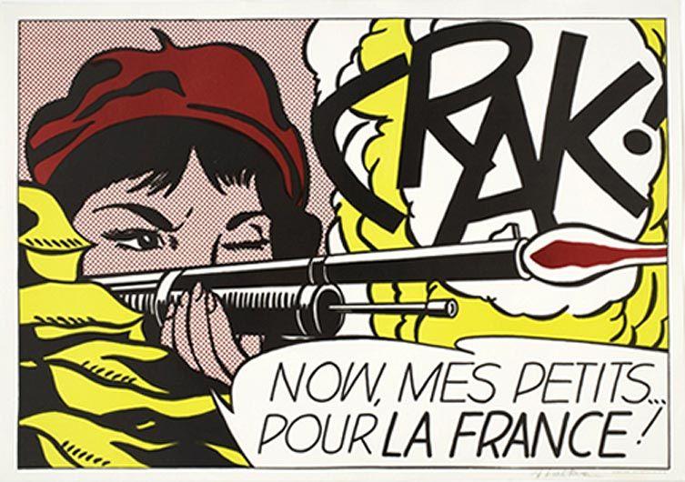 """Roy Lichtenstein """"Crak!"""" 1963-64"""