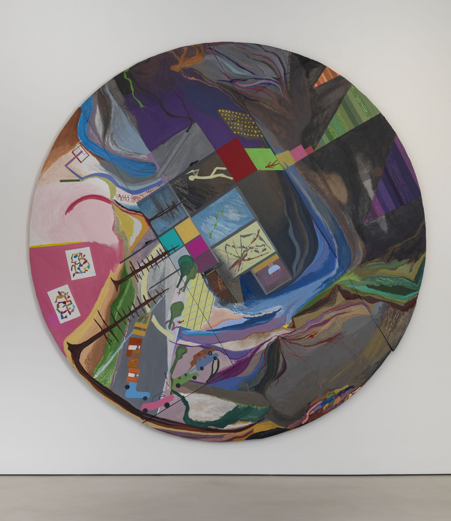 CHRIS JOHANSON Circular painting #1 about infinity and square and circular energy