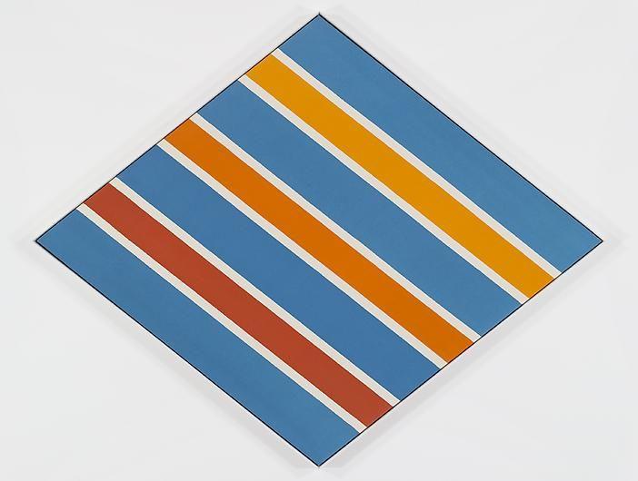 KENNETH NOLAND Orange and Blue Circa