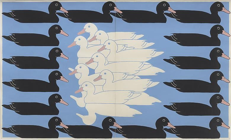 JOHN WESLEY Untitled (Ducks)