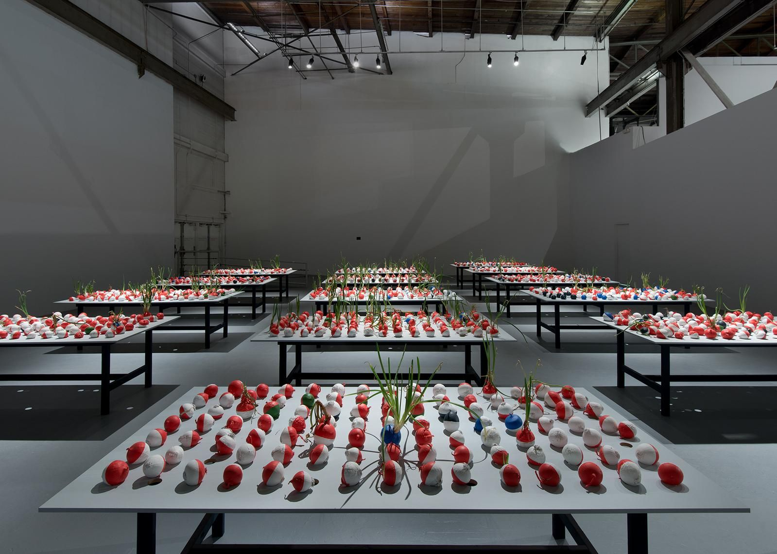 Installation view of William Pope.L: Trinket, March 20–June 28, 2015 at The Geffen Contemporary at MOCA, courtesy of the artist and The Museum of Contemporary Art, Los Angeles, photo by Brian Forrest