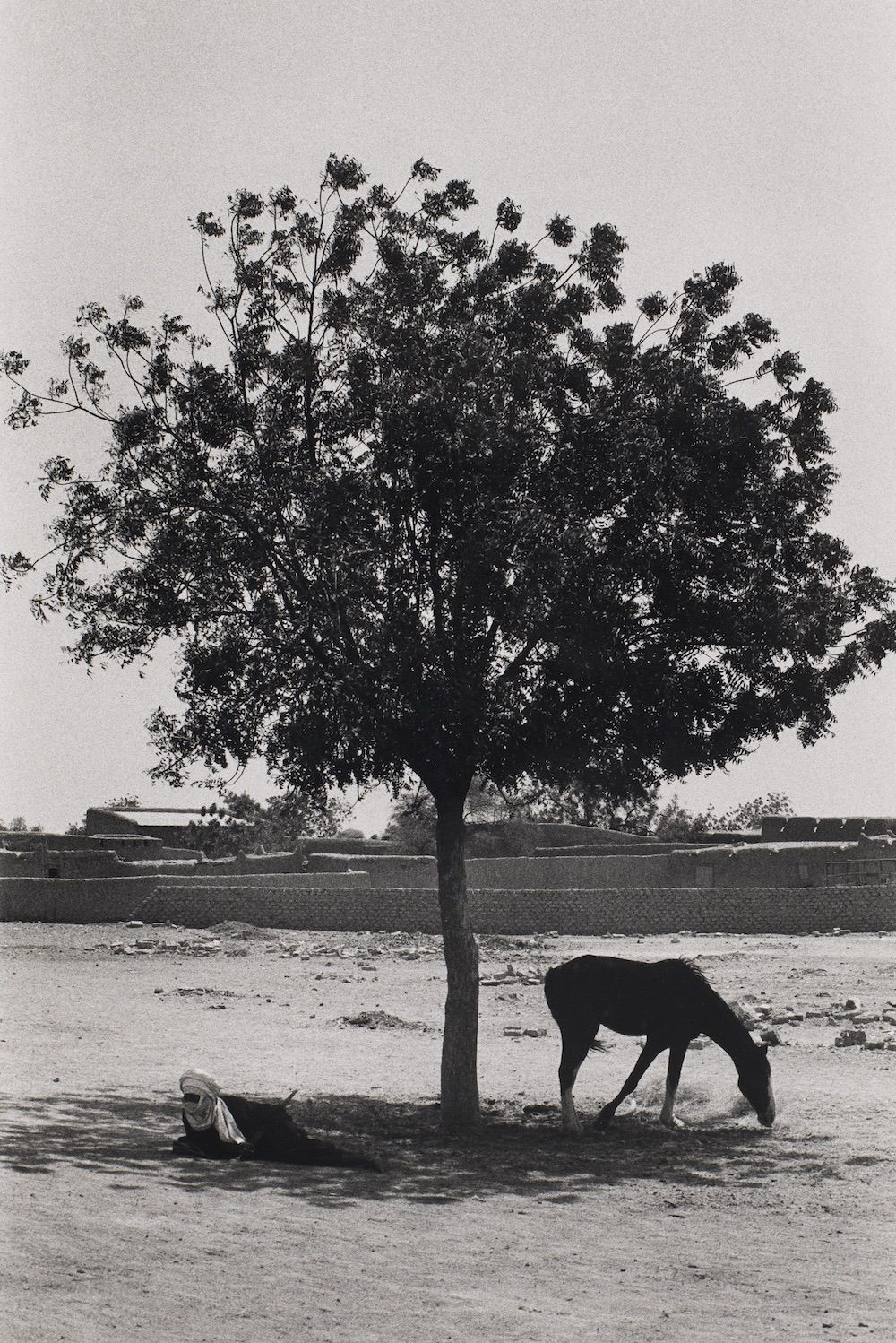 """Bernard Plossu (1945-)  Untitled, from the series """"African Desert"""", 1975  Gelatin silver print  16 x 12 inches (paper), black and white photography"""