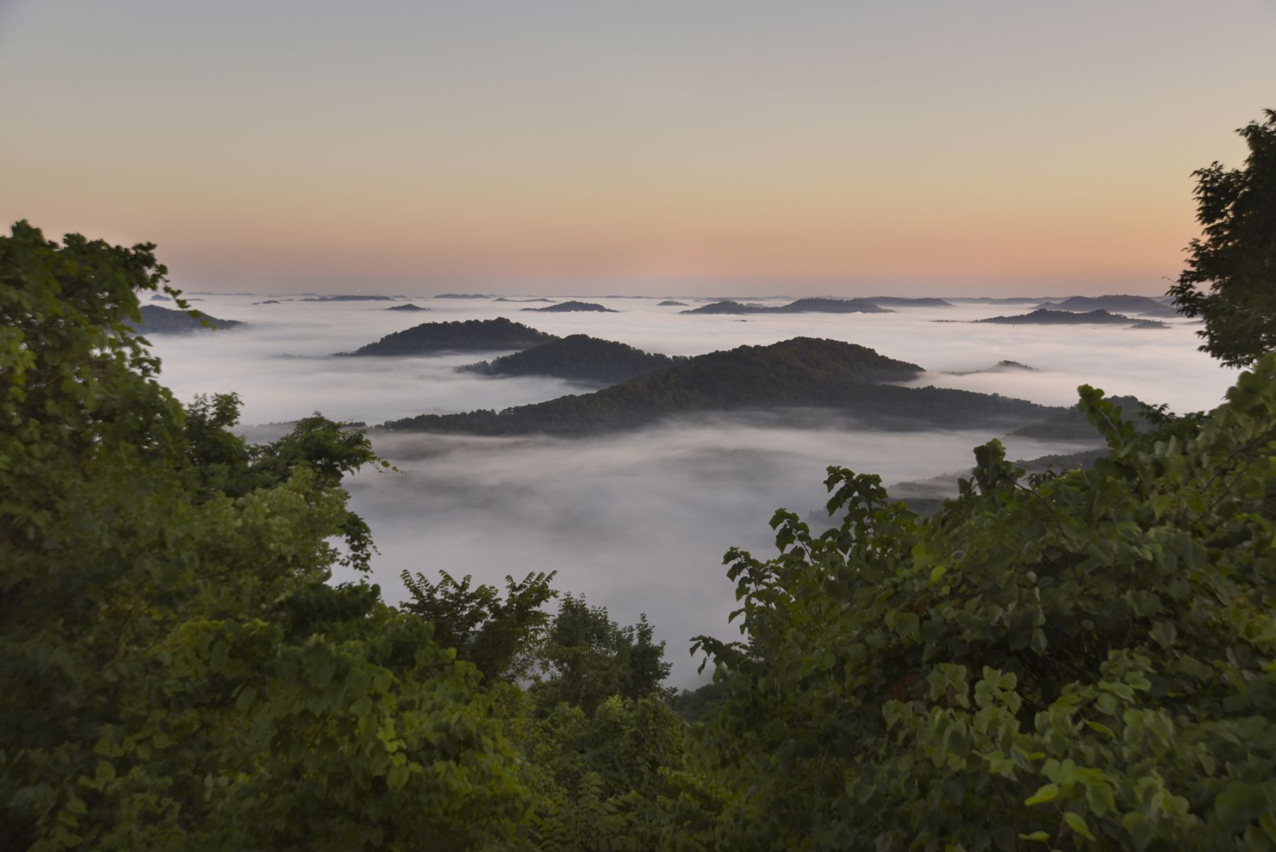 Stacy Kranitz  Pine Mountain, Kentucky, 2016  Archival pigment print  16 x 24 inches, Edition of 7  27 x 40 inches, Edition of 5, Blue Ridge Mtn in mist.