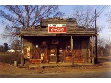 William Christenberry, Coleman's Cafe, Greensboro, Alabama, 1972, Ektacolor Brownie Print, 3 1/4h x 4 7/8w in, Edition of 25, Photography