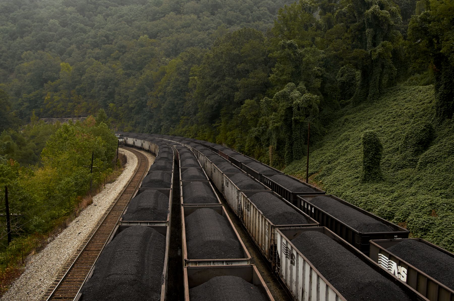 Stacy Kranitz  Wytheville, Virginia, 2012  Archival pigment print  16 x 25 inches, Edition of 7 27 x 40 inches, Edition of 3, Coal train through landscape