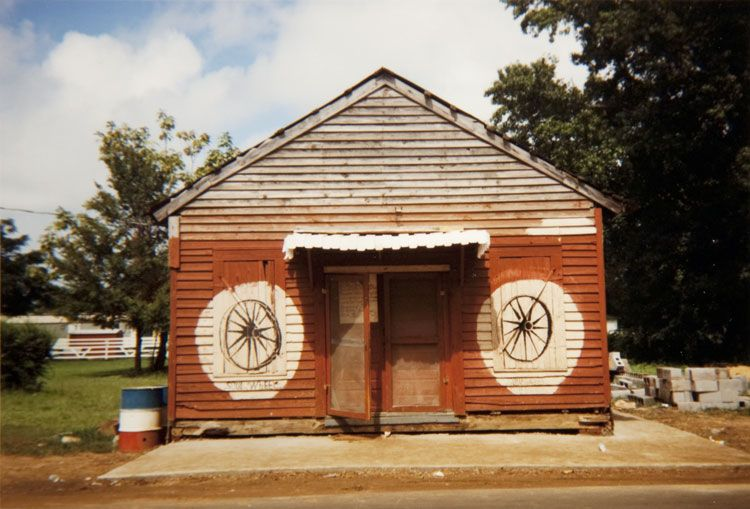 William Christenberry, Soul Wheel, Greensboro, Alabama, 1977, Ektacolor Brownie Print, 3 5/8h x 5w in, Edition of 25, Photography