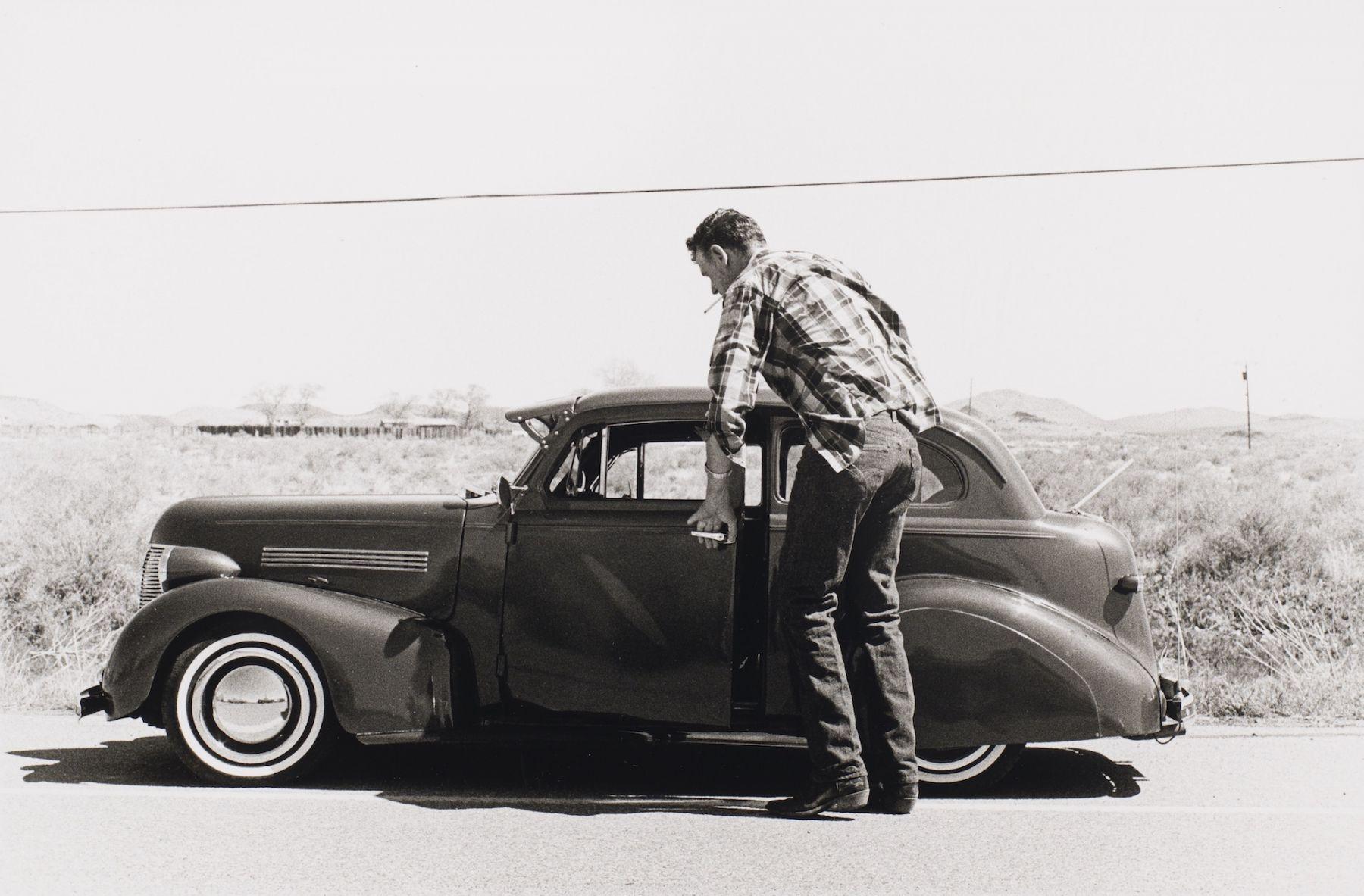Philippe Salaun (1943-)  Rencontre dans le Desert, Arizona, 1995  Gelatin silver print  12 x 16 inches (paper), black and white photography
