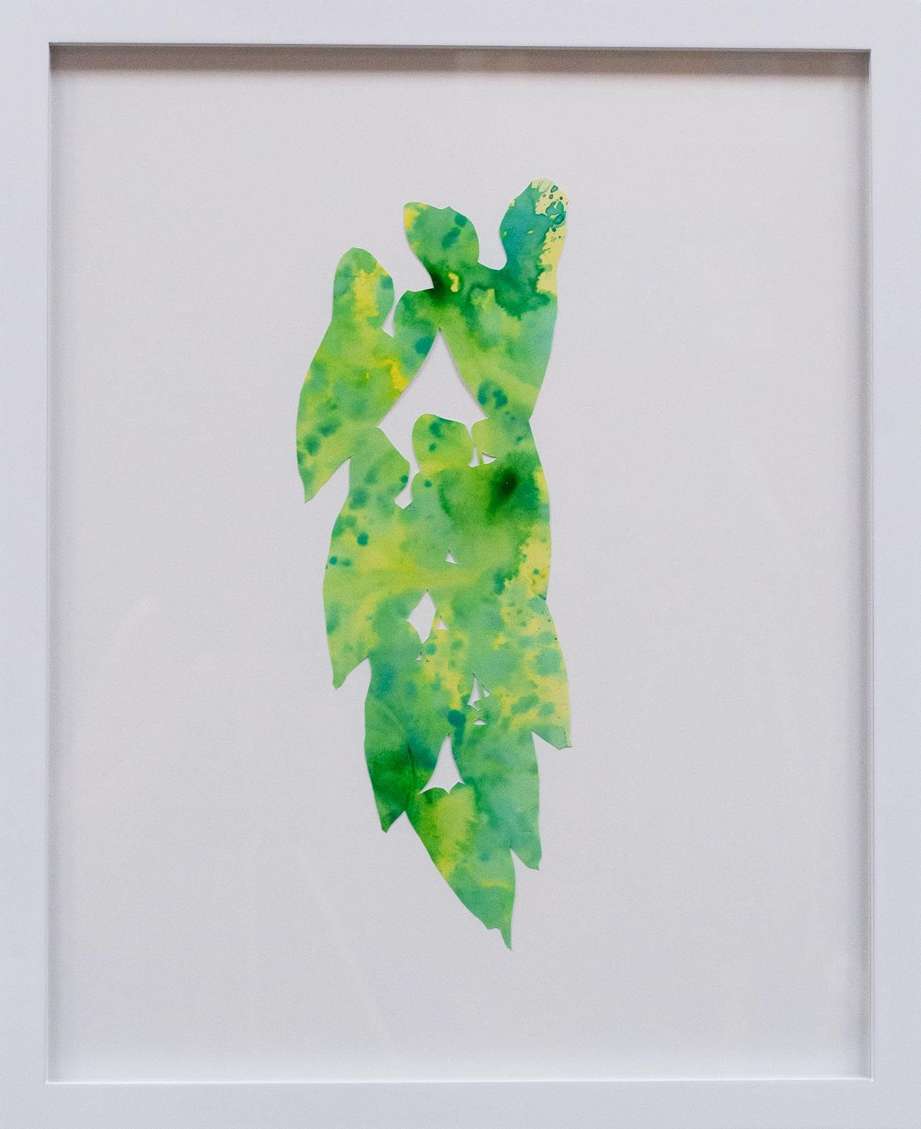 Hannah Cole  Smilax, 2018  watercolor on cut paper  Framed: 20h x 16w in 50.80h x 40.64w cm  HC_053