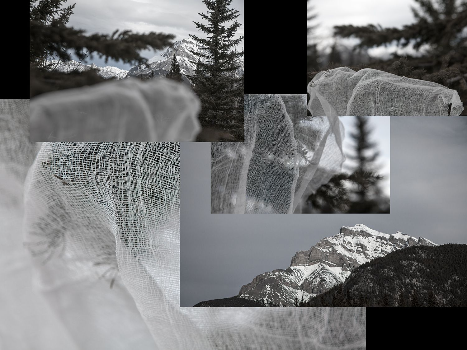 Dawn Roe Mountainfield Study (Cloth and Mountain), 2015 Archival Pigment Print 30h x 40w in, Edition of 3, Photography