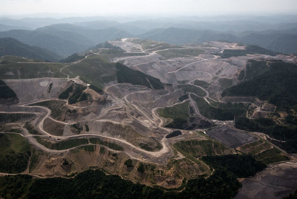 Stacy Kranitz  Whitesville, West Virginia  Archival Pigment Print  16 x 24 inches, Edition of 7  27 x 40 inches, Edition of 3, Ariel view of a mine, WV