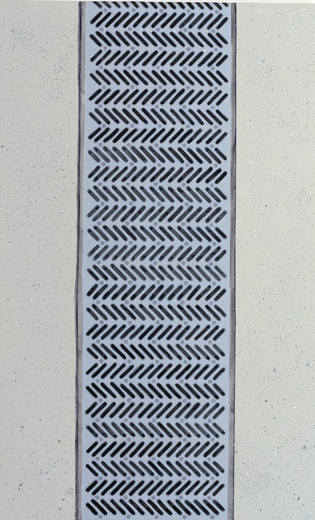 Hannah Cole  Miami Grate (Circle Meditation), 2017  Acrylic on canvas  37h x 23w in 93.98h x 58.42w cm  HC_029 Photorealistic painting