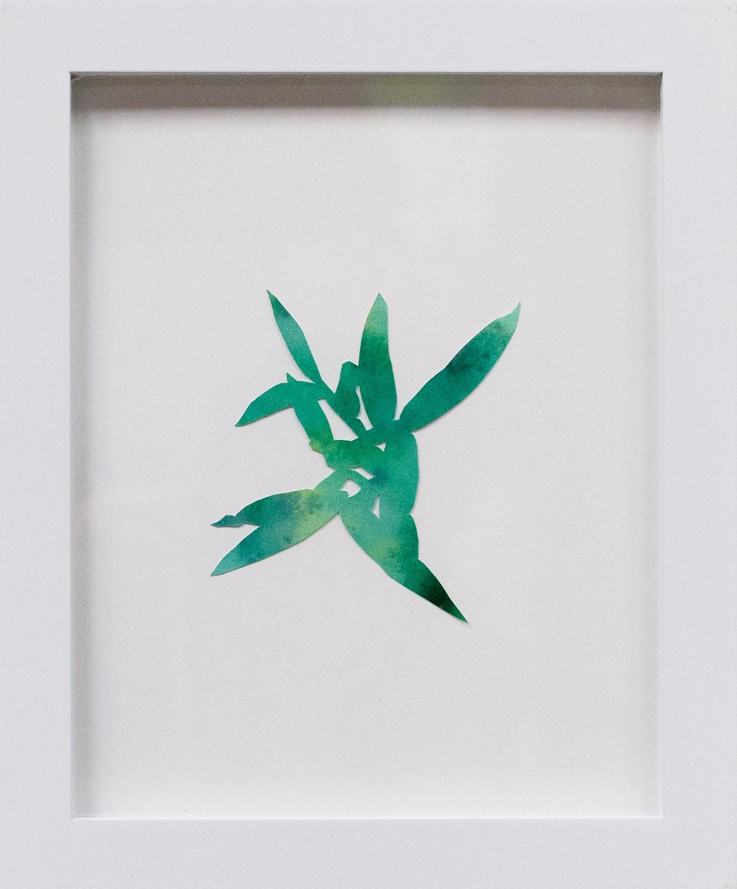 Hannah Cole  Crabgrass #6, 2018  watercolor on cut paper  Framed: 10h x 8w in 25.40h x 20.32w cm  HC_049