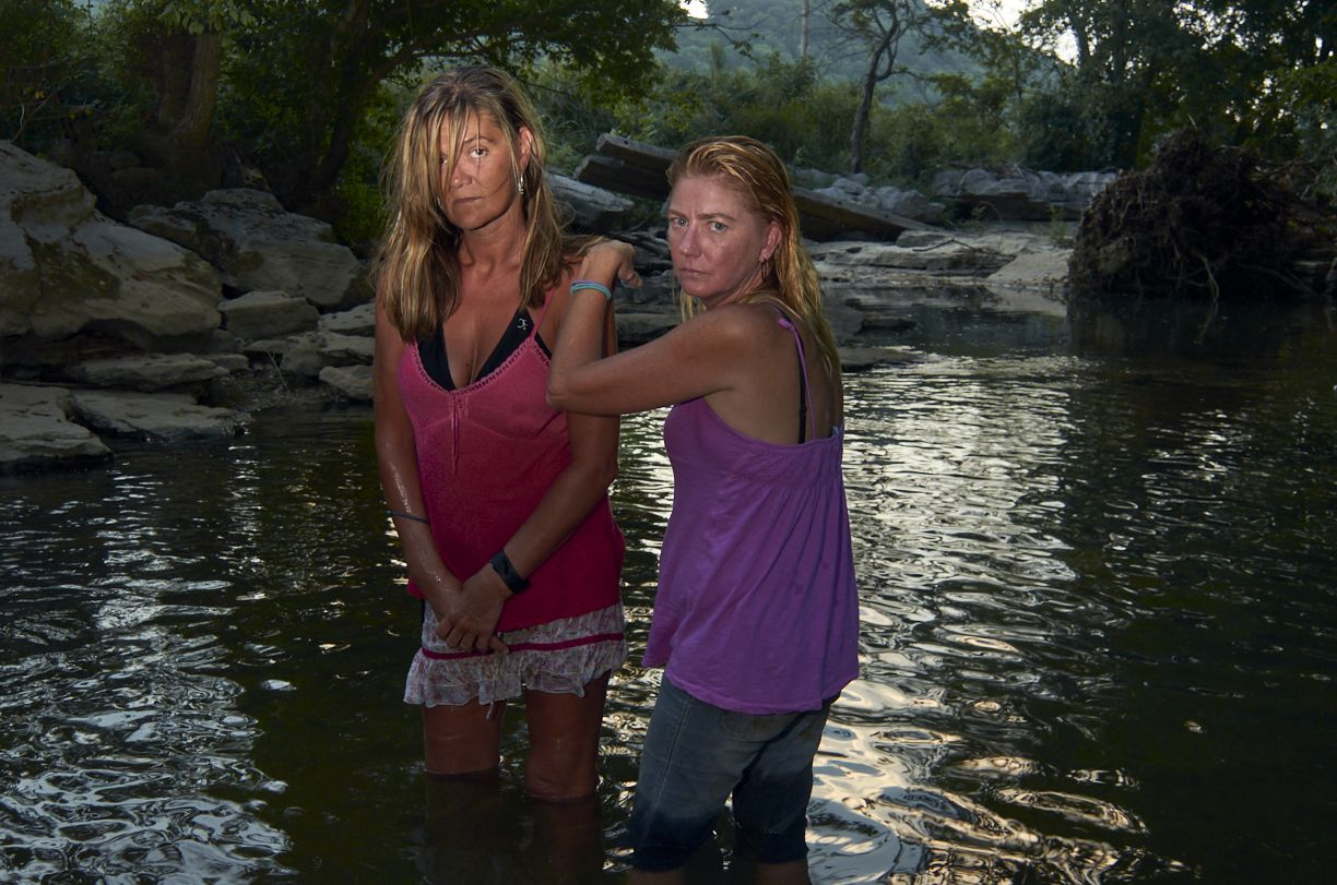 Stacy Kranitz  Dowelltown, Tennesee, 2011  Archival Pigment Print  16 x 24 inches, Edition of 7  27 x 40 inches, Edition of 3, Two women in a river, Tennessee