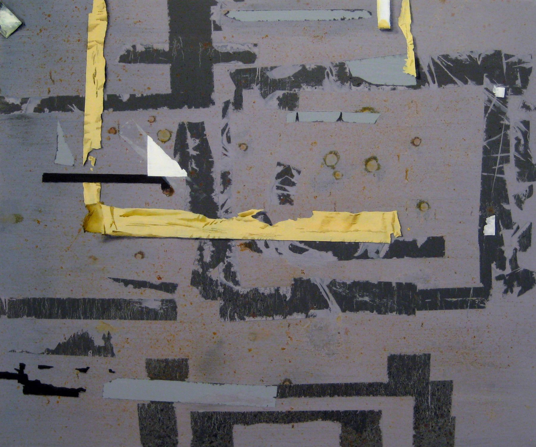 Hannah Cole History Painting #2 (For B.N.), 2009, 20h x 24 3/4w in, Acrylic on canvas, painting