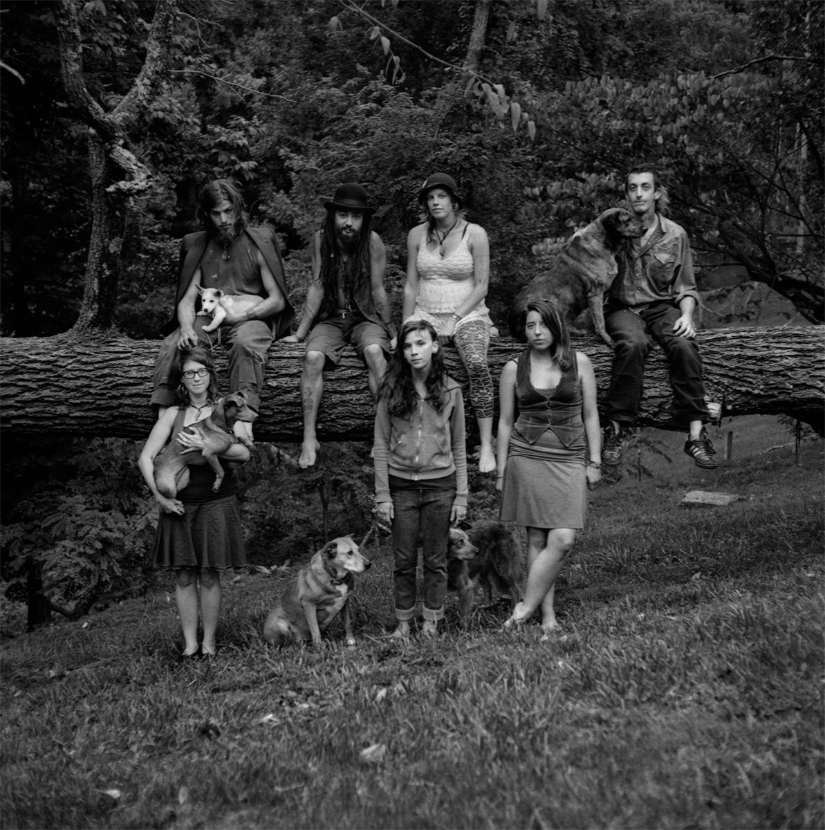 Rob Amberg, The Group, Paw Paw, Madison County, NC, 2014, Archival Pigment Print, 5 x 5 (image size), Edition of 10, Photography