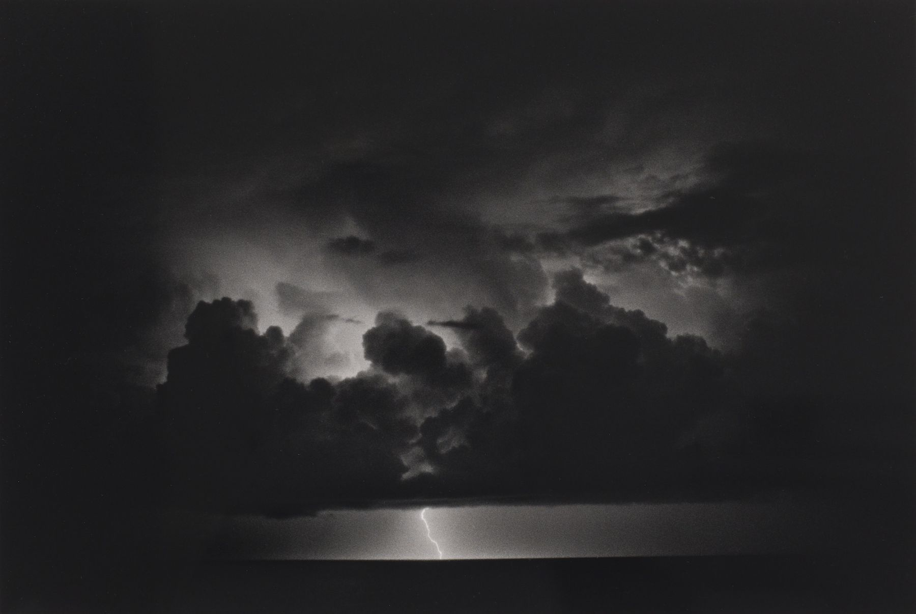 Bernard Plossu (1945-)  The Storm of Ulysses, 1988  Gelatin silver print  11 x 14 inches (paper), black and white photography