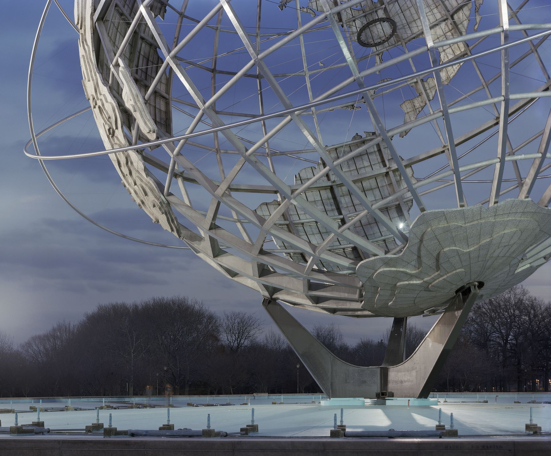 "Jade Doskow, New York 1964 World's Fair, ""Peace through Understanding,"" Unisphere, 2009, Archival Inkjet Print. Photography."