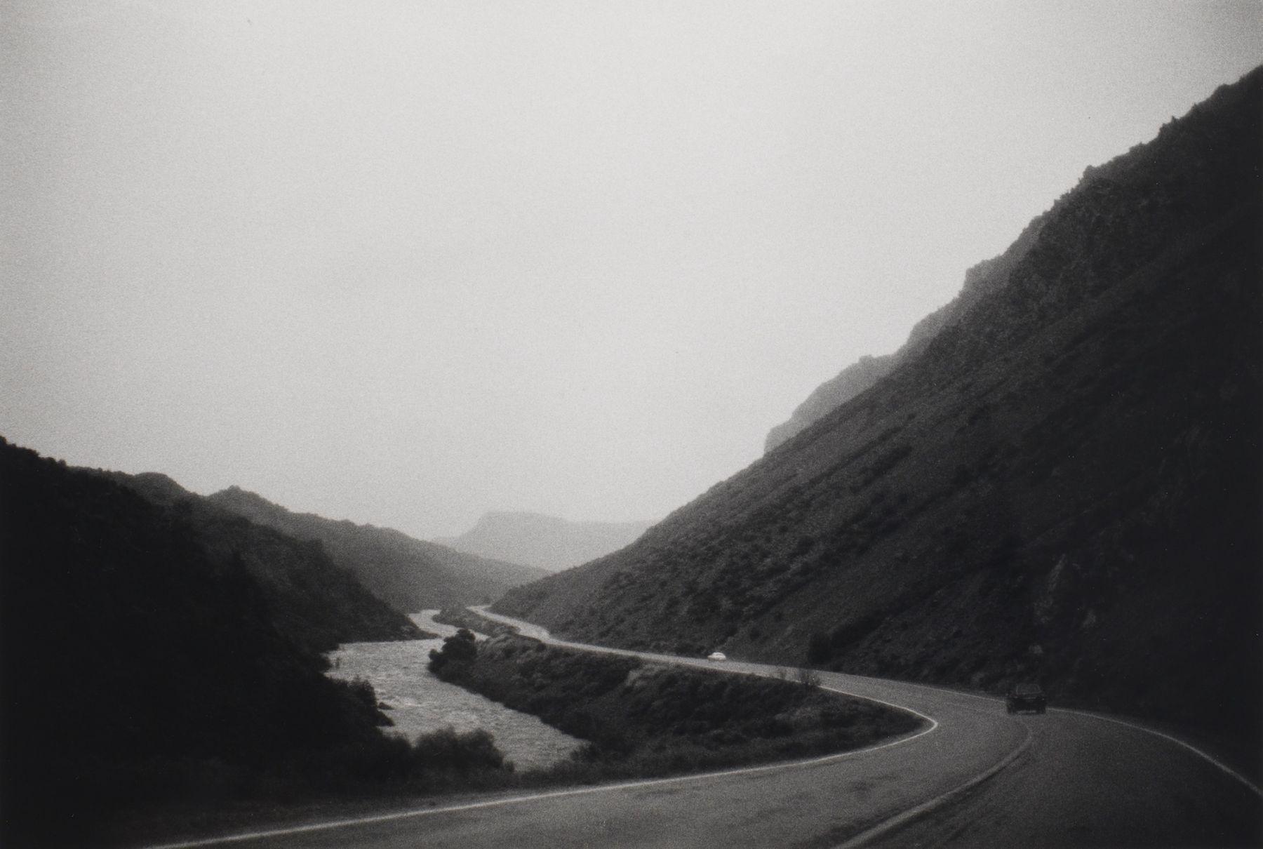 Bernard Plossu (1945-)  The Rio Grande near Taos, 1979  Gelatin silver print  10 x 14 inches (paper), black and white photography