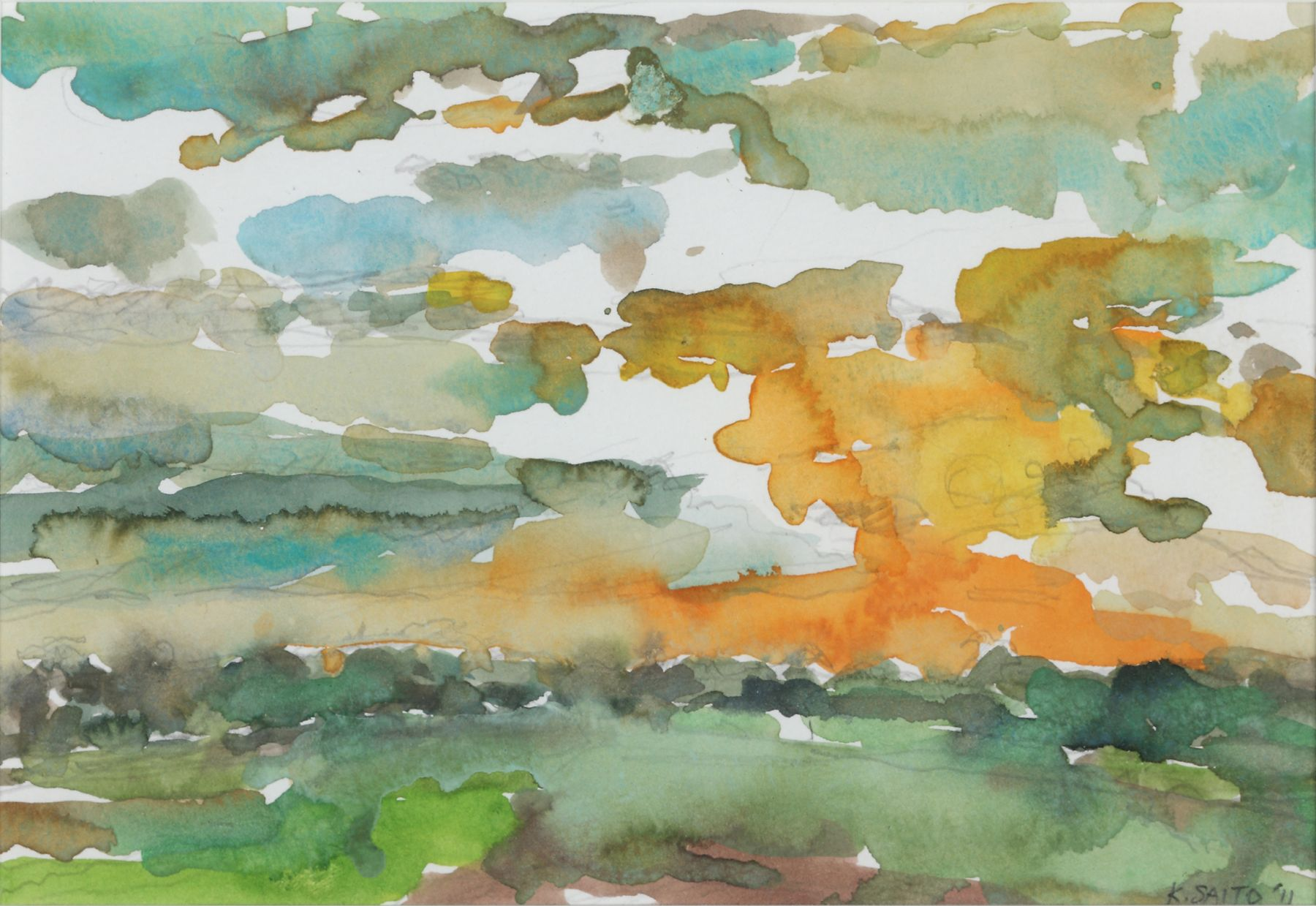 Kikuo Saito, Gotland #72, 2011    Watercolor on paper 5 3/8 x 8 inches