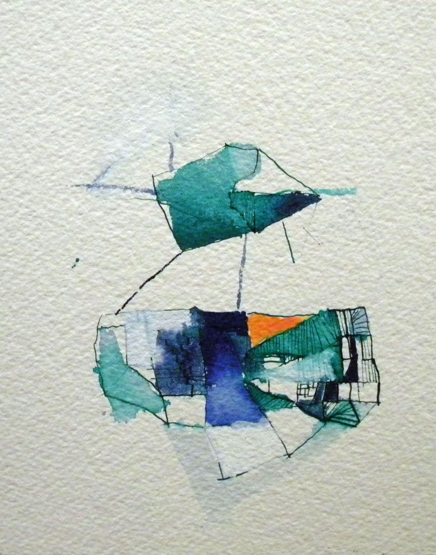 Louisa Waber  Untitled, May 2010  Watercolor on paper  5 3/4 x 5 7/8 inches